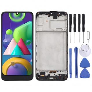 Für Samsung Galaxy M21 M215F Display Full TFT LCD + Rahmen Touch Ersatz Schwarz
