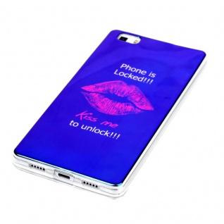 Silikoncase TPU Motiv 90 Hülle für Huawei P8 Lite Tasche Cover Tasche Cover Neu