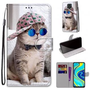 Für Xiaomi Redmi Note 9S / 9 Pro Kunst-Leder Handy Tasche Motiv 5 Hülle Etuis