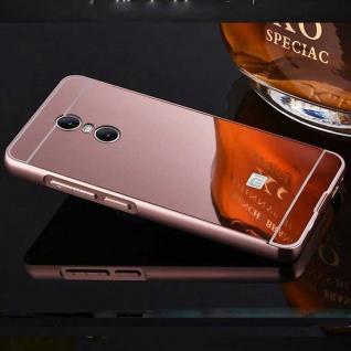 Spiegel / Mirror Alu Bumper 2teilig Pink für Xiaomi Redmi 5 Tasche Hülle Cover