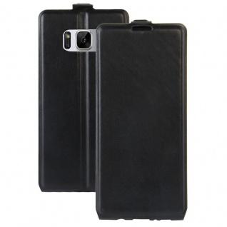 Flip Tasche Schwarz für Samsung Galaxy S8 Plus G955 G955F Hülle Case Etui Neu