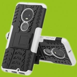 Für Motorola Moto G7 / G7 Plus Hybrid 2teilig Outdoor Weiß Tasche Etuis Hülle