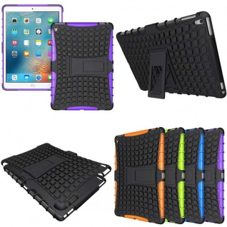 Hybrid Outdoor Schutzhülle Cover Lila für iPad Pro 9.7 Zoll Tasche Case Hülle