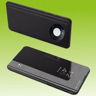 Für Huawei Mate 40 Pro View Smart Cover Hülle Schwarz Handy Tasche Etuis Wake UP