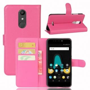 Tasche Wallet Premium Pink für Wiko Upulse Hülle Case Cover Etui Schutz Zubehör