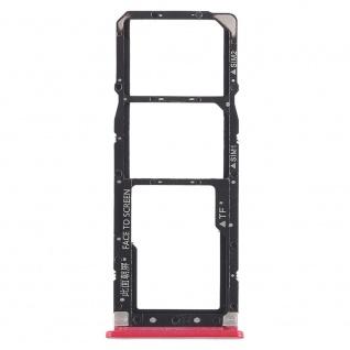 Für Xiaomi Mi A2 Lite / Redmi 6 Pro Karten Halter Rot Sim Tray Schlitten Holder