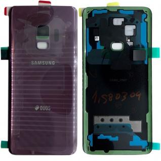 Samsung GH82-15875B Akkudeckel Deckel für Galaxy S9 Duos + Klebepad Lila Neu