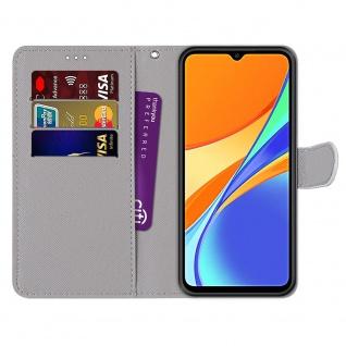 Für Xiaomi Redmi 9C Kunst-Leder Handy Tasche Motiv 3 Hülle Etuis Cover Schutz