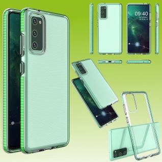 Für Samsung Galaxy S20 FE Color Frame Case Grün Handy Tasche Hülle Etuis Cover