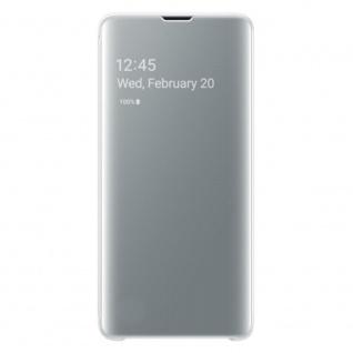 Samsung Flip Tasche Clear View EF-ZG973CWEGWW für Galaxy S10 G973F Cover Weiß - Vorschau 2