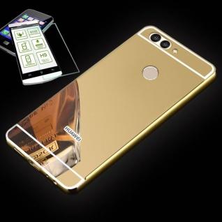 Alu Bumper 2 teilig Gold + 0, 3 H9 Glas für Huawei Nova 2S Tasche Hülle Case Neu