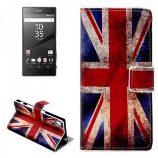 Schutzhülle Muster 9 für Sony Xperia Z5 5.2 Zoll Bookcover Tasche Hülle Case Neu