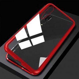 Für Xiaomi Mi 9 Magnet Glas Rot / Transparent Tasche Hülle Etuis Cover Case Neu
