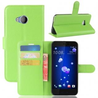 Tasche Wallet Premium Grün für HTC U11 Life Hülle Case Cover Etui Schutz Zubehör