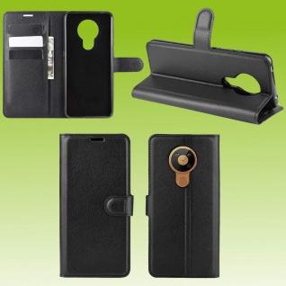 Für Nokia 3.4 Handy Tasche Schwarz Etuis Kunst-Leder Cover Hülle Case Schutz Neu