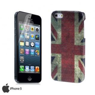 Apple iPhone 5 Cover Schutzhülle Tasche Case Hardcover incl. Display Folie NEW