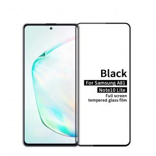 Für Samsung Galaxy Note 10 Lite 2x 3D Display Full H9 Hart Glas Schwarz Folie