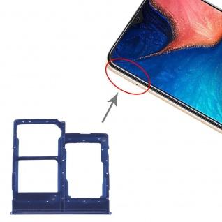 Sim Karten Halter + SIM Karten Halter + Micro SD für Samsung Galaxy A20E Blau