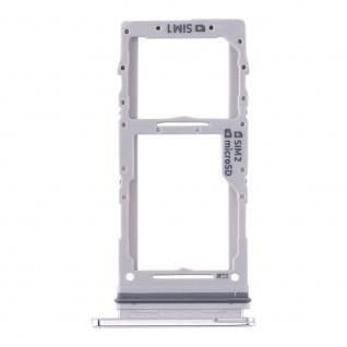 Dual Sim / Micro SD Karten Halter für Samsung Galaxy S20 Plus/S20 Ultra Weiß