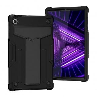Für Lenovo Tab M10 Plus TB-X606F aufstellbare Tablet Tablet Schutzhülle Schwarz