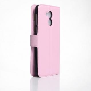 Tasche Wallet Premium Rosa für Huawei Honor 6C Hülle Case Cover Etui Schutz Neu - Vorschau 2