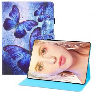 Für Samsung Galaxy Tab S7 FE / S7 Plus Motiv 2 Tablet Tasche Kunst Leder Hülle