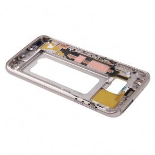 Gehäuse Rahmen Deckel kompatibel Samsung Galaxy S7 G930 G930F Kleber Gold - Vorschau 4