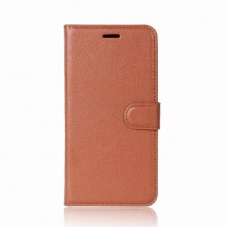 Tasche Wallet Premium Braun für Huawei Mate 10 Pro Hülle Case Cover Etui Schutz - Vorschau 2