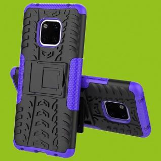 Für Huawei Mate 20 Pro Hybrid Case 2teilig Outdoor Lila Tasche Cover Hülle Case