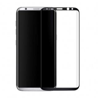 0, 3 mm H9 gebogenes Hartglas Schwarz Folie für Samsung Galaxy S8 Plus G955F
