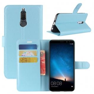 Tasche Wallet Premium Blau für Huawei Mate 10 Lite Hülle Case Cover Etui Schutz