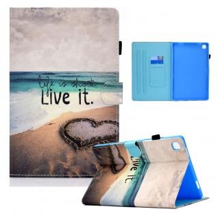 Für Samsung Galaxy Tab S6 Lite P610 Motiv 96 Tablet Tasche Kunst Leder Etuis Neu