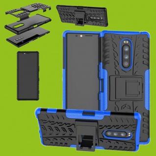 Hybrid Case 2teilig Outdoor Blau Tasche für Sony Xperia 1 6.5 Zoll Etuis Etuis