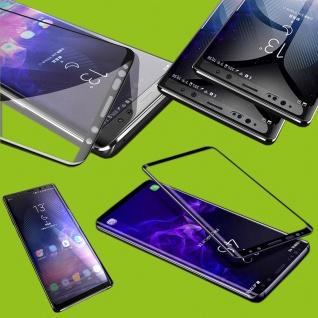 Für Samsung Galaxy A7 A750F 9D Display 0, 3 mm H9 Hart Glas Schwarz Schutz Folie