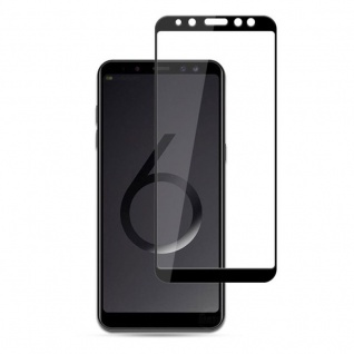 2x 3D 0, 3 mm H9 Hart Glas Schock Folie Schwarz für Samsung Galaxy J4 Plus J415F