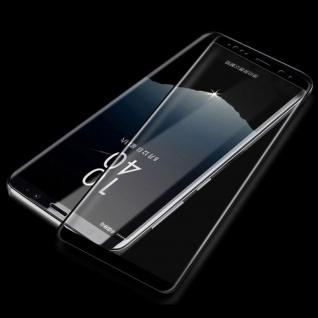 2x 4D Full 0, 3 H9 Curved Hartglas Schwarz Folie für Samsung Galaxy Note 9 N960F