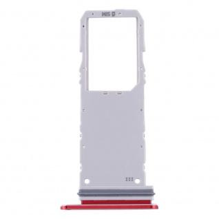 Sim Karten Halter für Samsung Galaxy Note 10 Rot Card Tray