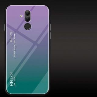 Für Huawei Mate 20 Lite Color Rainbow Effekt Glas Cover Lila Tasche Hülle Case
