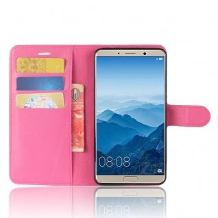 Tasche Wallet Premium Pink für Huawei Mate 10 Hülle Case Cover Etui Schutz Neu - Vorschau 5
