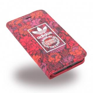 Adidas Bohemian Tasche Book Cover Apple iPhone 7 Hülle Handytasche Etui Rot Neu - Vorschau 2