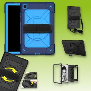 Für Samsung Galaxy Tab A7 10.4 2020 360 Grad Blau Outdoor Hybrid Tasche Etuis