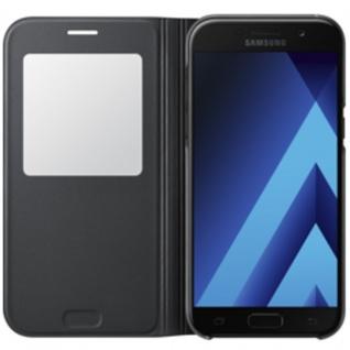 Samsung S View Wallet Tasche Kunstleder EF-CA520 f. Galaxy A5 A520F 2017 Schwarz - Vorschau 2