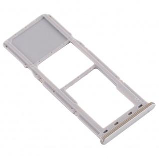 Sim Karten Halter für Samsung Galaxy A70 Silber Card Tray Micro SD Ersatzteil - Vorschau 4