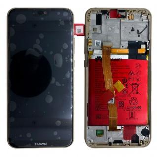 Huawei Display LCD Rahmen für P20 Lite Service Pack 02351WRN Gold Batterie Neu