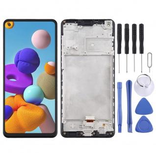 Für Samsung Galaxy A21s A217F Display Full LCD + Rahmen Touch Ersatz Schwarz Neu