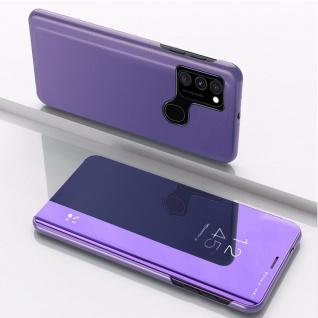 Für Samsung Galaxy A21s View Smart Cover Hülle Lila Handy Tasche Etuis Wake UP