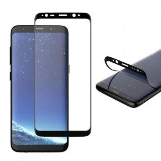 2x Hybrid TPU gebogene Panzerfolie Folie Schwarz für Samsung Galaxy S9 Plus G965