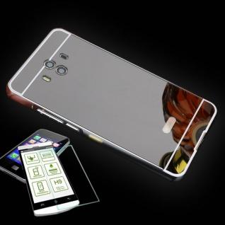 Alu Bumper 2 teilig Schwarz + 0, 3 H9 Panzerglas für Huawei Mate 10 Tasche Hülle