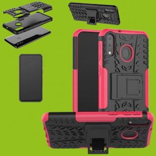 Für Samsung Galaxy A50 / A30s Hybrid Case 2teilig Outdoor Pink Tasche Hülle Etui
