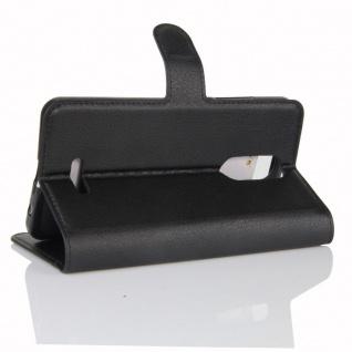 Tasche Wallet Premium Schwarz für Wiko Upulse Lite Hülle Case Cover Etui Schutz - Vorschau 4